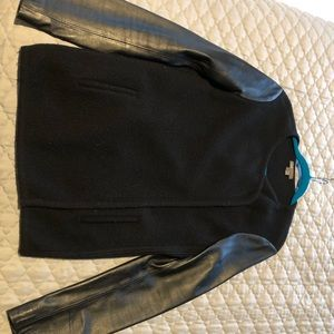 Vince Sweater/jacket with Leather Sleeves